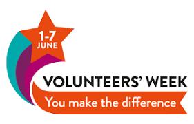 Volunteers' Week 1st – 7th June