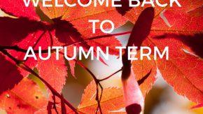 Start of Autumn Term