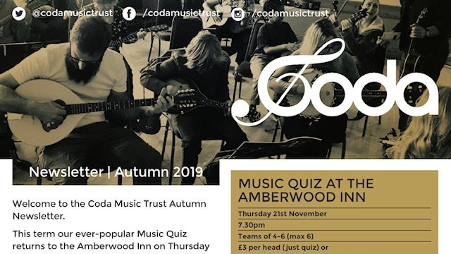 Coda Autumn 2019 Newsletter